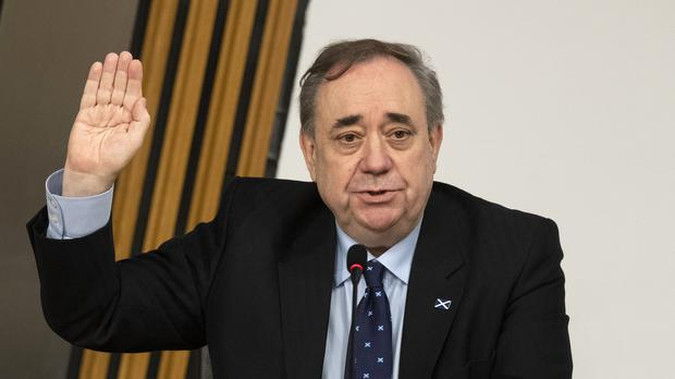 Former first minister Alex Salmond is sworn in (Andy Buchanan/PA)