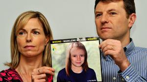 "Gerry and Kate McCann, whose daughter Madeleine disappeared from a holiday flat in Portugal on May 3, 2007. Mrs McCann has described the tenth anniversary of her daughter's disappearance as a ""horrible marker of time, stolen time""."