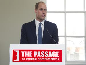 William is the royal patron of the homeless charity The Passage (Eamonn M McCormack/PA)
