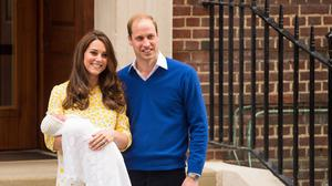 The Duke and Duchess of Cambridge and the newborn Princess of Cambridge, as the Cambridges will appear in public for the first time as a family of four at Princess Charlotte's christening.