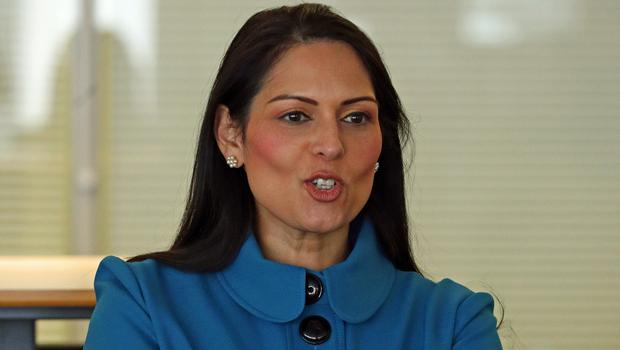 Home Secretary Priti Patel visits Chessington School in Surrey (Aaron Chown/PA)