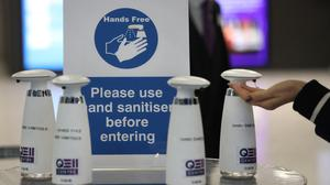 The Government is advising members of the public to use hand sanitiser (Philip Toscano/PA)