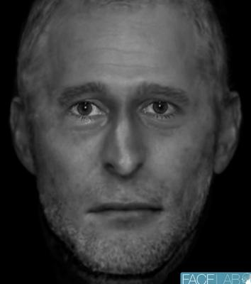 Professor Caroline Wilkinson made the 2D reconstruction of the man's face from his skeletal remains (Caroline Wilkinson/PA).