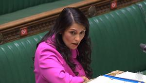 Home Secretary Priti Patel making a statement to MPs in the House of Commons (PA)