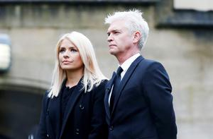 Holly Willoughby and Phillip Schofield at the funeral
