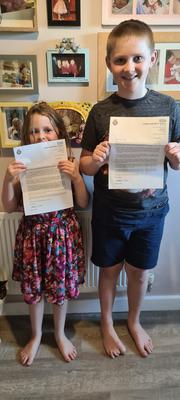 Lorraine Quinlan's children were among those to receive a letter. (London Ambulance Service)
