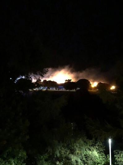 More than 50 firefighters were involved in tackling the blaze at the school (Graeme Mckenzie/Twitter/PA)