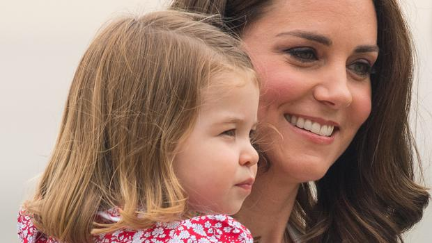 The Duchess of Cambridge and Princess Charlotte in Poland (Dominic Lipinksi/PA)