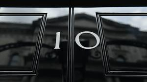 The front door of number 10 Downing Street in London (Dominic Lipinski/PA)