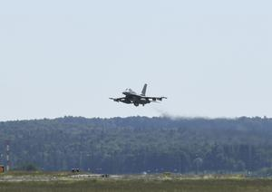 A total of 38 aircraft took part in the exercise (US Air Force/PA)