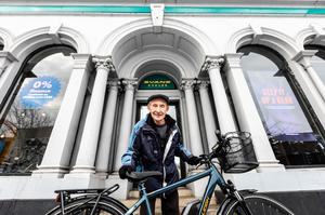 Mr Bailey picked up the bike from his local Evans Cycles store in Maidstone (Raleigh/Evans Cycles/PA)