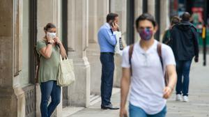 Shoppers wearing face coverings on Regent Street, London, ahead of the announcement that it will soon be mandatory to wear a face covering in shops in England.