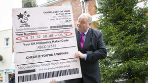 Andy Carter, from the National Lottery, appeals for the winner of a £41m EuroMillions jackpot in Dorset to claim their prize (Camelot/PA)