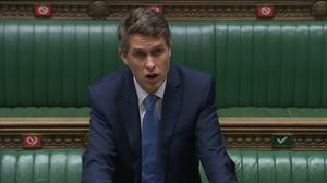 Education Secretary Gavin Williamson also said he was looking 'very closely' at proposals for summer school catch-up tuition (House of Commons/PA)