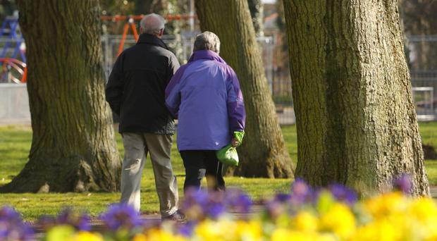The ONS figures revealed that men and women aged between 65 and 74 are happier than any other age group (Chris Ison/PA)