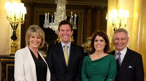 Jack Brooksbank and Princess Eugenie, flanked by presenters Ruth Langsford and Eamonn Holmes, have been interviewed by the TV couple ahead of their wedding. Royal Communications