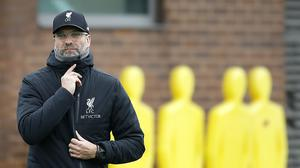 Liverpool manager Jurgen Klopp, during a training session at Melwood training ground (PA/Martin Rickett)