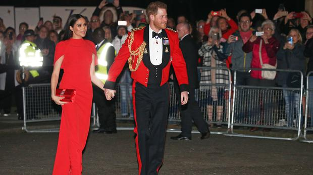 The Duke and Duchess of Sussex will appear in an interview with Oprah Winfrey later this month (Jonathan Brady/PA)