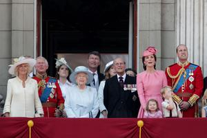 The royal family during the Trooping the Colour annual celebrations (Yui Mok/PA)