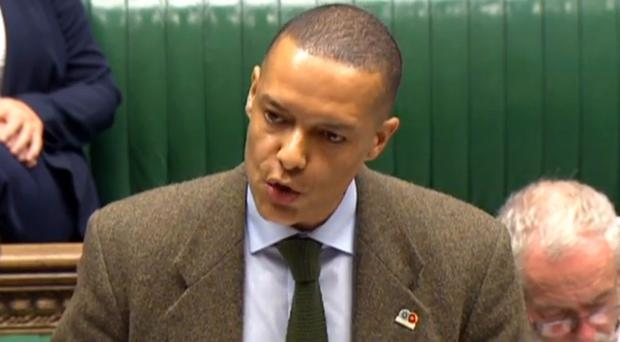 Clive Lewis speaks in the House of Commons (PA)