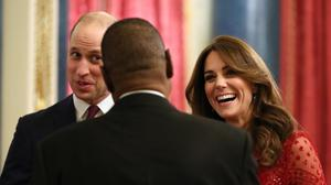 The Duke and Duchess of Cambridge welcome guests to a reception at Buckingham Palace (Yui Mok/PA)