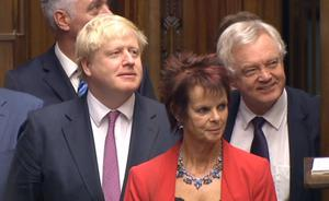 Anne Milton, pictured while an MP alongside then-colleagues Boris Johnson and David Davis, gave evidence at Southwark Crown Court on Wednesday (PA)