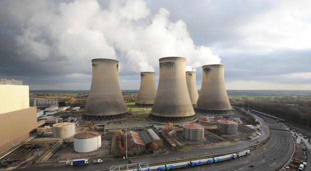 Drax Power Station near Selby, North Yorkshire (Anna Gowthorpe/PA)