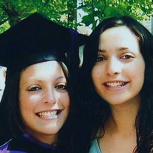Meredith Kercher (right) with her sister Stephanie