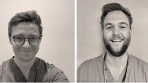Clockwise from top left: Dr Sam Curtis, Dr Oli Butters, Dr Charlie Vickers, and Dr Tom Bottomley (Thomas Bottomley/PA)