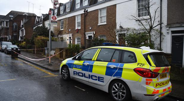 A police presence in Battersea Church Road (Kirsty O'Connor/PA)