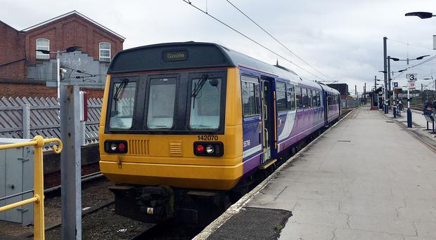 A 142 Pacer diesel train at Doncaster station, Yorkshire (Richard Woodward/PA).