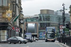 In Newcastle the roads were notably busier… (Owen Humphreys/PA)