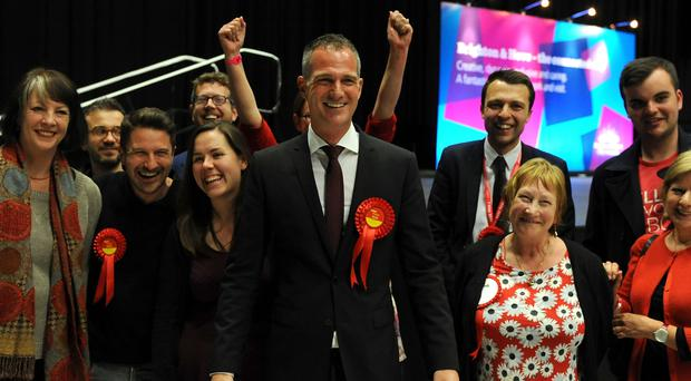 Peter Kyle winning his seat in 2015 (Clive Gee/PA)