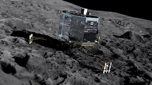 Philae landed on the surface of the comet 67P in November (European Space Agency/PA Wire)