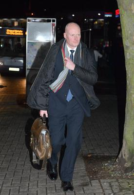 Matthew Horne leaves the misconduct hearing at Chelmsford Civic Centre. (John Stillwell/PA)
