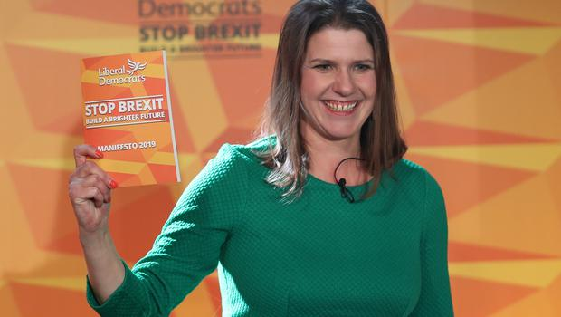 Liberal Democrats leader Jo Swinson during the launch of her party's manifesto (Yui Mok/PA)