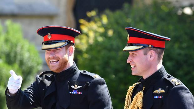 Harry and his best man, the Duke of Cambridge, wore the frockcoat of the Blues and Royals (Ben Birchall/PA)