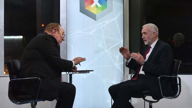 Labour's Jeremy Corbyn was grilled by Andrew Neil (Jeff Overs/BBC)