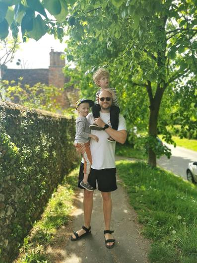 The boys being carried home (Family handout/PA)
