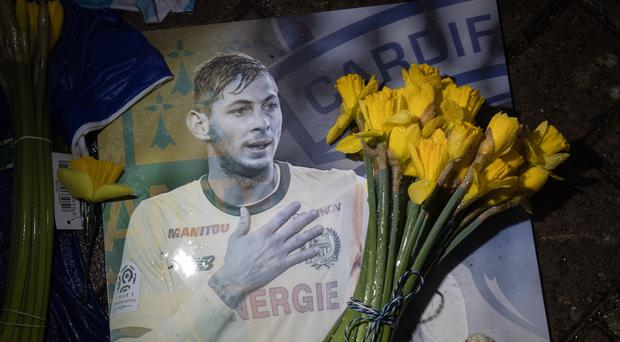 A tribute at Cardiff City Stadium for Emiliano Sala (Aaron Chown/PA)