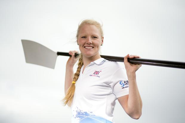 Polly Swann during the European Rowing Championships (Nick Potts/PA)