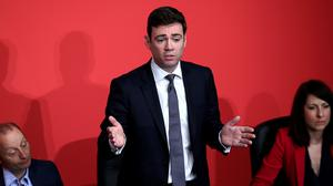 Andy Burnham takes part in a Labour Party leadership hustings at Parr Hall, Warrington, Cheshire.