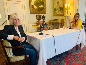 Camilla was interviewed by Emma Barnett for her radio show at Clarence House (BBC)