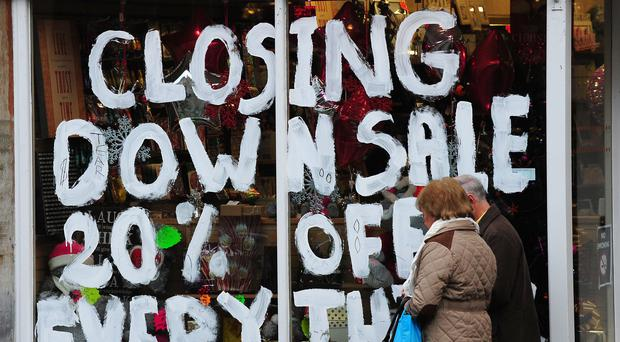 Eighty-one retailers collapsed into administration in the eleven months to November (Rui Vieira/PA)