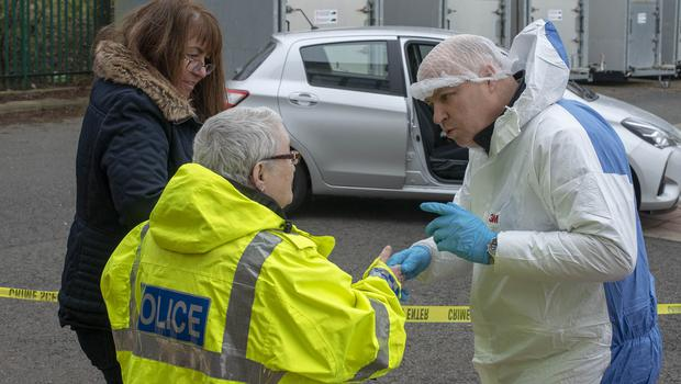 Margaret directs the forensics team (Northumbria Police/PA)