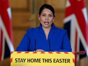 Priti Patel said it is vital the PM recovers (Pippa Fowles/10 Downing Street/Crown Copyright/PA)
