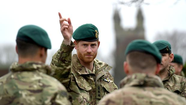 The Duke of Sussex will no longer be Captain General of the Royal Marines (Finnbarr Webster/PA)