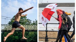 It was a mixed bag on the weather front in August (PA)