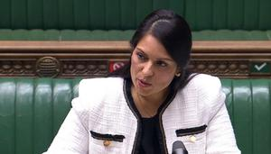 "Home Secretary Priti Patel said a rise in mass gatherings was ""unacceptable"" (House of Commons)"