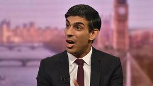 Rishi Sunak MP, Chancellor of the Exchequer on the Andrew Marr show (Jeff Overs/BBC/PA)
